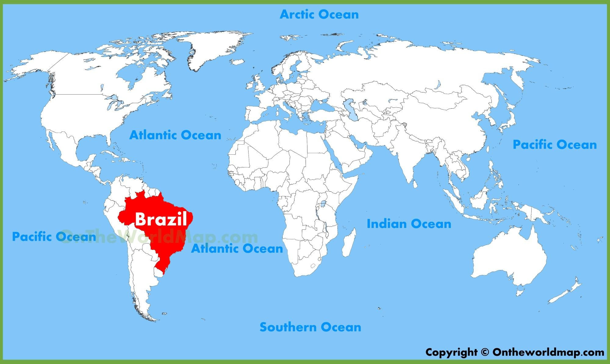 Mapa Sveta Brazilie Mapa Sveta Brazilie Jizni Amerika Amerika